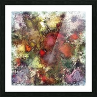 A natural collision of rocks Picture Frame print