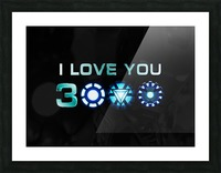 I Love You 3000 Blue Picture Frame print