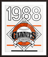 San Francisco Giants 1988 Picture Frame print