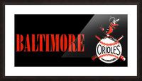 baltimore orioles retro remix row one Picture Frame print