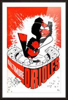 hal decker artist baltimore orioles poster Picture Frame print