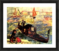 Gondola on the Canale Grande Picture Frame print