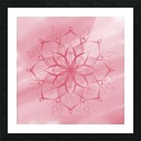 pink mandala Picture Frame print