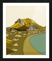 travel destination landscape nature Picture Frame print