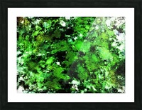 Green deflected Picture Frame print