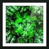 Green burst Picture Frame print