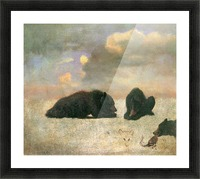 Grizzly Bears by Bierstadt Picture Frame print