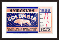 1938 Syracuse vs. Columbia Picture Frame print