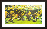 best notre dame football art Picture Frame print