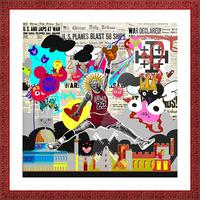 Black Jesus Picture Frame print