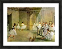 Hall of the Opera Ballet in the Rue Peletier by Degas Picture Frame print
