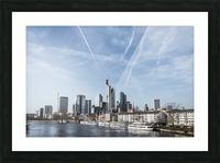 frankfurt skyscraper Picture Frame print