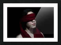 low key dark girl portrait Picture Frame print