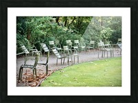 Chaises du Luxembourg   6 Picture Frame print