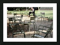 Chaises du Luxembourg   2 Picture Frame print