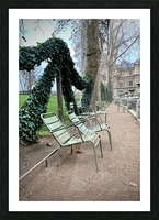 Chaises du Luxembourg   7 Picture Frame print
