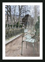 Chaises du Luxembourg   10 Picture Frame print