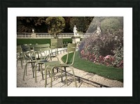 Chaises du Luxembourg   8 Picture Frame print