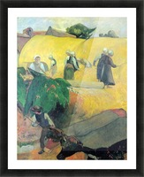 Harvest In Brittany by Gauguin Picture Frame print