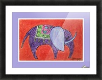 Pretty Pachyderm in frame Picture Frame print
