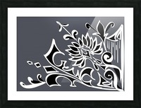 tricolor abstract Picture Frame print