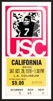 1978 usc trojans california ticket stub art poster Picture Frame print