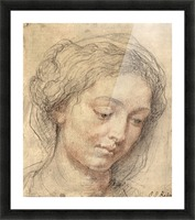 Head of a woman -2- by Rubens Picture Frame print