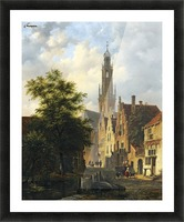 Bakenesserkerk seen from The Valkestraat, Haarlem Picture Frame print
