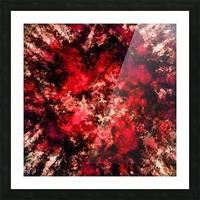 Red burst Picture Frame print