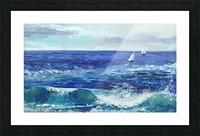 Two Boats In The Ocean Seascape Painting Picture Frame print