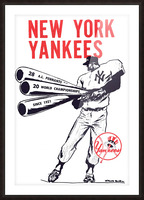 Artist Willard Mullin New York Yankees Art Poster Picture Frame print