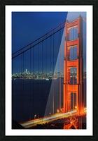 Golden Gate Bridge at Night Picture Frame print