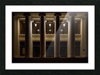 Night Pillars Picture Frame print