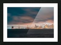 Cloudy San Francisco Night Skyline Impression et Cadre photo