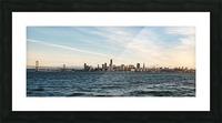 San Francisco City Skyline At Sunset Picture Frame print