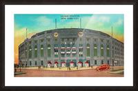 1935 Vintage New York Yankees Stadium Art Picture Frame print