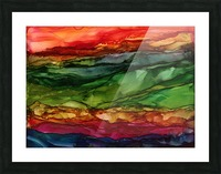 Kaleidoscope Canyon Picture Frame print
