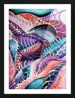 Artdeco Abstract Linear Interlacing Pattern Picture Frame print