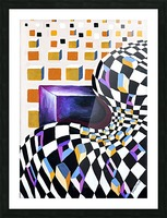 Retro Minimalism Abstract Chess Pattern Picture Frame print