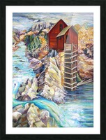 Colorado Rocky Mountains Crystel Mill River  Picture Frame print