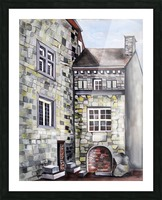 Liege Castle French Provenance  Picture Frame print