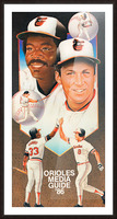 1986 Baltimore Orioles Media Guide Canvas Picture Frame print