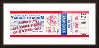 1976 new york yankees yankee stadium ticket stub art poster Picture Frame print