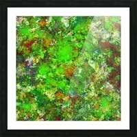 Slippery green rocks Picture Frame print
