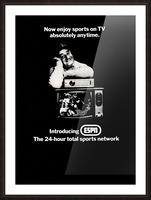1981 ESPN Print Ad Picture Frame print