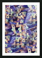 Seamless Geometric Vivid Abstract Picture Frame print