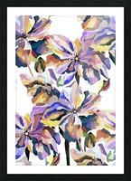 Watercolor Vintage Retro Floral Pattern  Picture Frame print