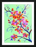 Watercolor Sakura Japanesse Cherry Flowers Picture Frame print