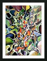 Subconsciousness Toughts in Maximalism Contemporary Picture Frame print