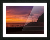 Costa Verde Sunset  Picture Frame print